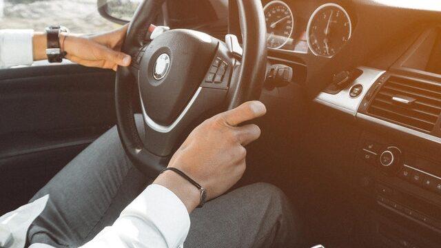 Man driving a BMW