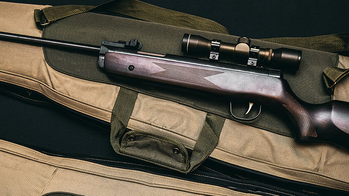 Picture of Rifle Placed On Rifle Bag